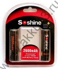 Защ. 2x Soshine  2600 мАч